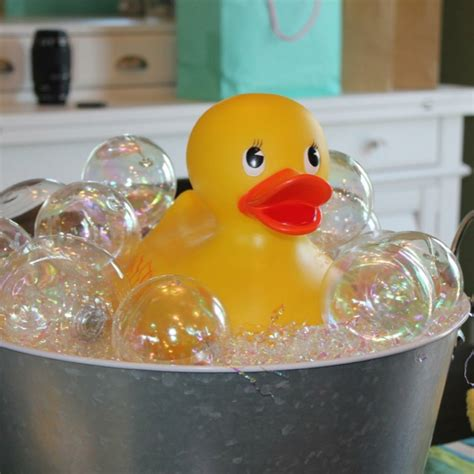 how to make fake bubbles for decoration rubber ducky bath using clear plastic iridescent ornaments and the iridescent filler you