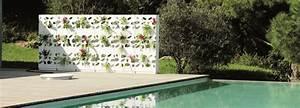 mur vegetal jardinieres et treillages jardinchic With decoration mur exterieur jardin 1 decoration vegetale le rideau vegetal jardiniere d