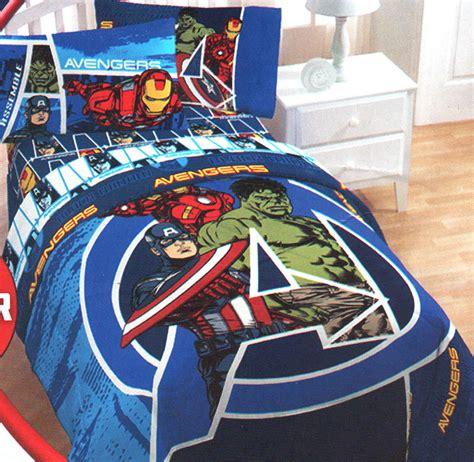 Marvel Comics Avengers Assemble Twinfull Comforter Blue