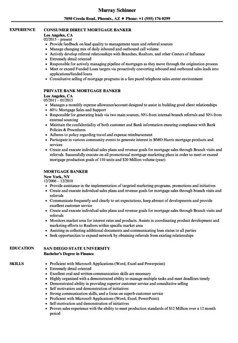 Resume Banker by Mortgage Banker Resume Bijeefopijburg Nl