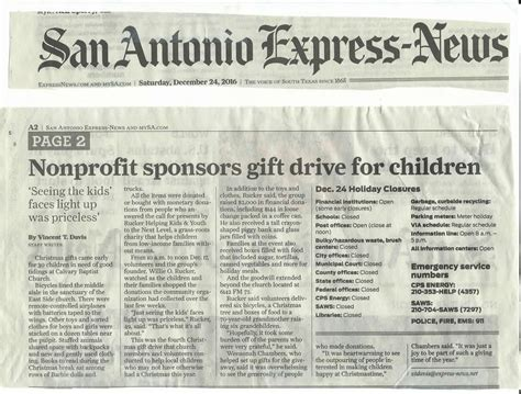 Helping Kids and Youth   Newspaper Articles & Flyers