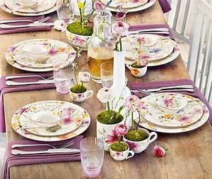 Geschirrset Villeroy Und Boch : mariefleur a romantic pattern like a summer garden ~ Orissabook.com Haus und Dekorationen