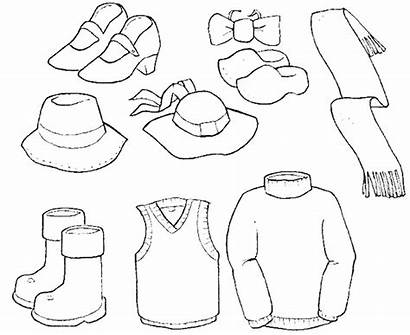 Coloring Clothes Pages Winter Sheets Summer Printable