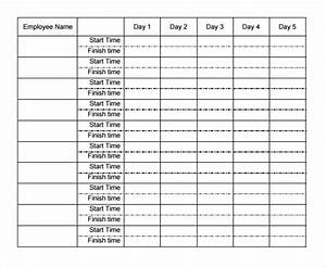 21 weekly timesheet templates free sample example for Multiple employee timesheet template free