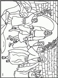 Coloring Page Of Jesus Riding A Donkey Coloring Pages