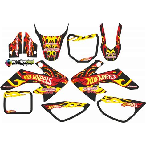Decals stickers graphics kit for honda crf50 xr50 ssr 110 125 sdg dirt pit bike. Honda CRF 50 MX Graphics Kit
