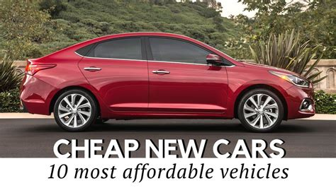 10 Cheapest New Cars On Sale In 2018 (specs And Prices
