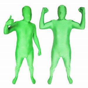 Full Body Neon Green Man Lycra Spandex Zentai Halloween