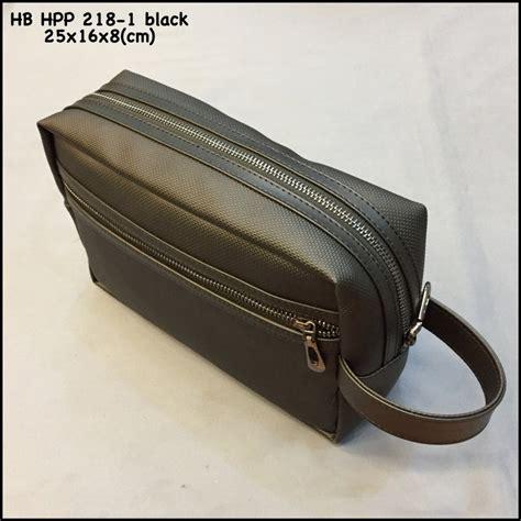 jual tas hush puppies   black super premium handbag