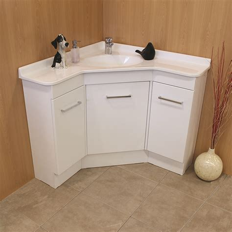 corner sink and vanity corner bathroom vanity units showerama regarding ideas