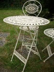 Bistrotisch Und Stühle : bistrotisch 2 st hle wei gartenm bel balkonm bel metall eisenm bel ebay ~ Buech-reservation.com Haus und Dekorationen