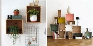 Cagette Bois Deco : diy d co 19 mani res de r utiliser les caisses en bois marie claire ~ Teatrodelosmanantiales.com Idées de Décoration