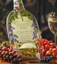 wine wedding gift vineyard designs wedding invitation as wine bottle gift idea