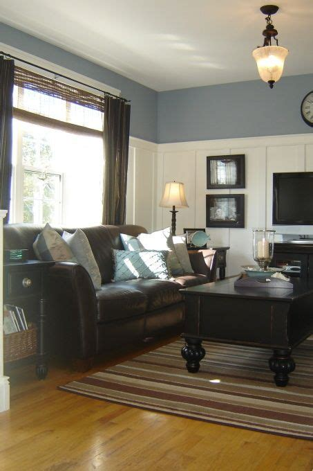 coastal living room ideas  brown couch www