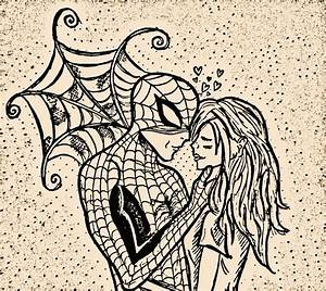 Spider-Man and Mary-jane in love... by pockacho on DeviantArt