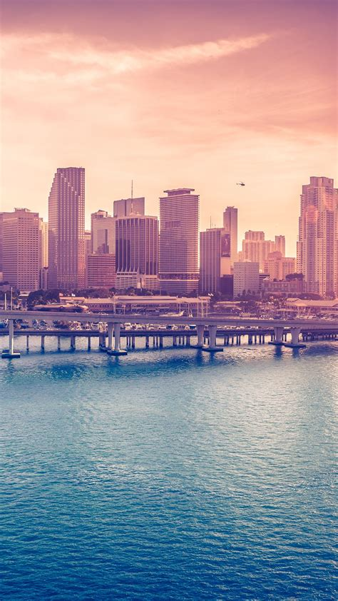 Miami Downtown Florida Iphone 6 Wallpaper On Extra Board