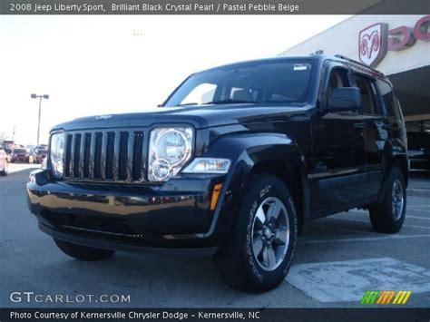 beige jeep liberty brilliant black crystal pearl 2008 jeep liberty sport