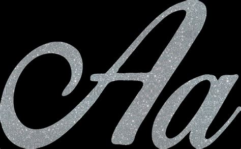 iron on letters silver glitter iron on letters cursive script letters 22597