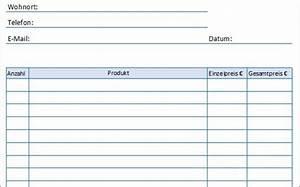 Vorlage Kostenaufstellung Excel
