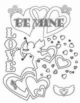 Cards Printable Valentines Coloring sketch template