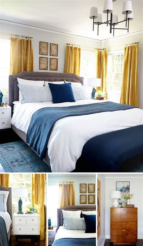 Blue And Yellow Bedroom Ideas by Best 25 Navy Yellow Bedrooms Ideas On Blue