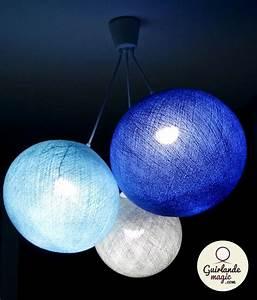 Boule Lumineuse Guirlande : plafonnier 3 boules guirlande lumineuse led arbre ~ Teatrodelosmanantiales.com Idées de Décoration