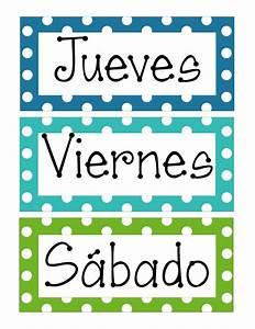 Días de la semana en español e inglés para imprimir ~ Educación Preescolar, la revista