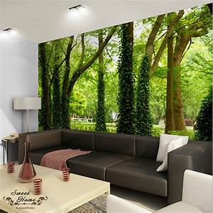 D nature tree landscape wall paper print decal decor