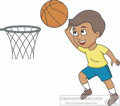 Basketball Clipart Shooting Playing Boy Hoops Sports