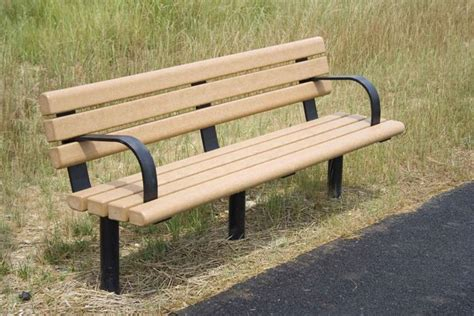 Greenwood Recycled Plastic Park Bench  Occ Outdoors
