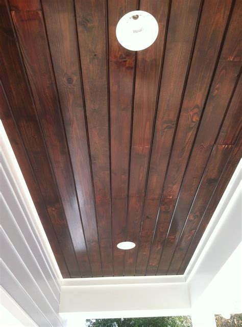 tongue  groove ceiling great stain color  foyer