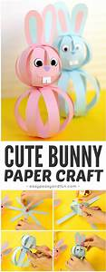 Easy Paper Bunny Craft Easter Idea For Kids Easy Peasy