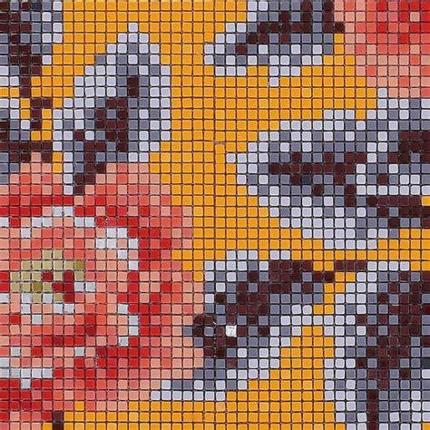 mosaic tile pattern glazed glass backsplash