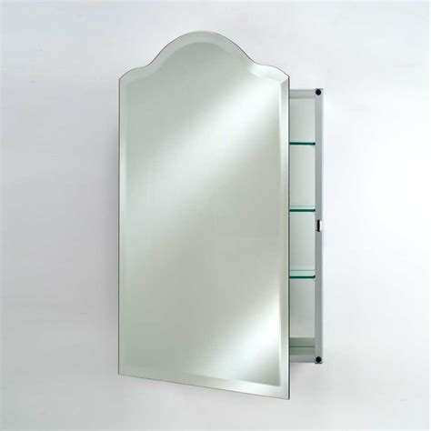 afina 20 quot scallop top wall mount mirrored medicine cabinet