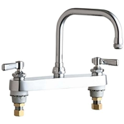 standard kitchen sink faucets chicago faucets 2 handle standard kitchen faucet in chrome