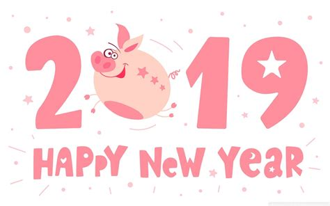 2019 Happy New Pig Year 4k Hd Desktop Wallpaper For 4k