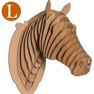 Trophée Animaux Carton : troph e t te de cheval en carton brun grand de l 39 atelier chez soi ~ Melissatoandfro.com Idées de Décoration