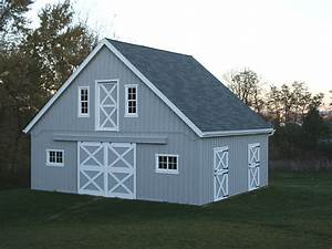 small center aisle horse barn With 3 stall horse barn for sale