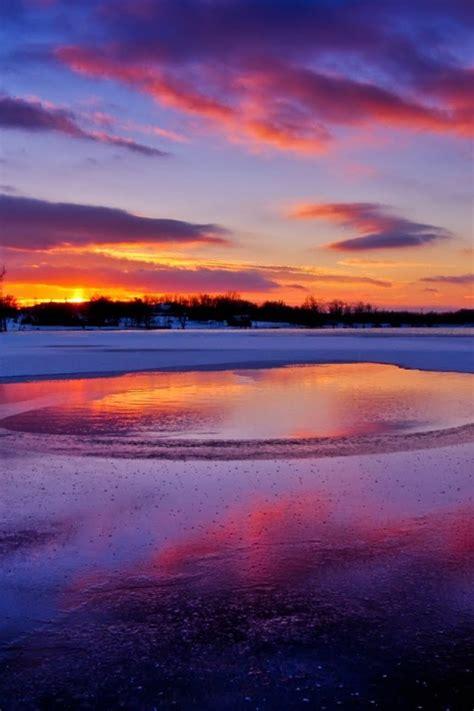 colors   winter sunset wallpaper allwallpaperin
