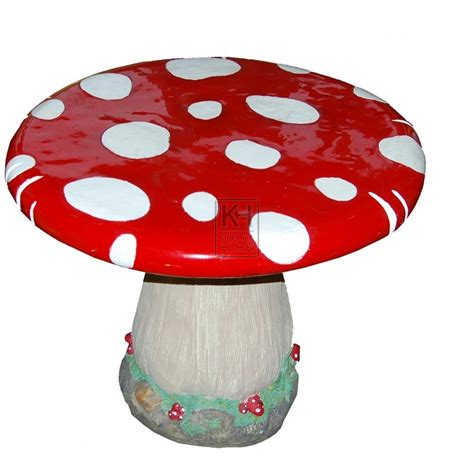 mushroom table and chairs set giant and oversized prop hire toadstool table and chairs
