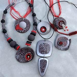 Polymer clay Mokume Gane necklace – diy project – fimo