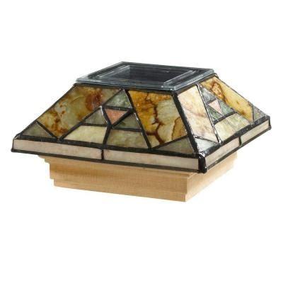 home depot tiffany ls deckorail 4 in x 4 in wrc jade stone tiffany geo solar