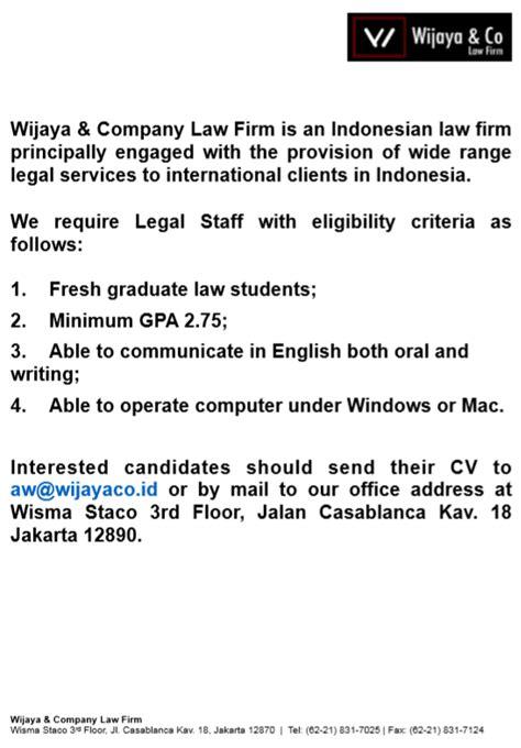 Wijaya & Company Law Firm : PPK – C D C - Pusat