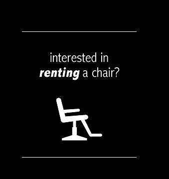 chair to rent in modern hairdressing salon muirhead