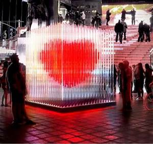 Interactive Love Installations : Times Square Heart Sculpture