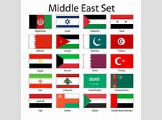 Middle Eastern 3x5' Flag Set of 20 Country Lightweight