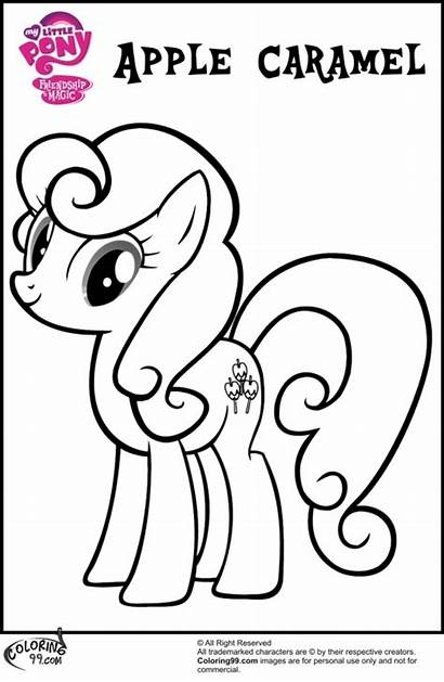 Coloring Pages Mlp Apple Pony Bloom Printable