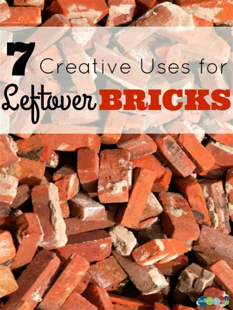 creative   leftover bricks gardening ideas