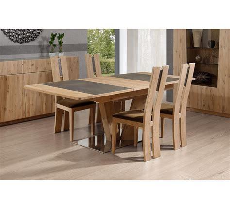 table pied central carré ou rectangulaire en chêne et