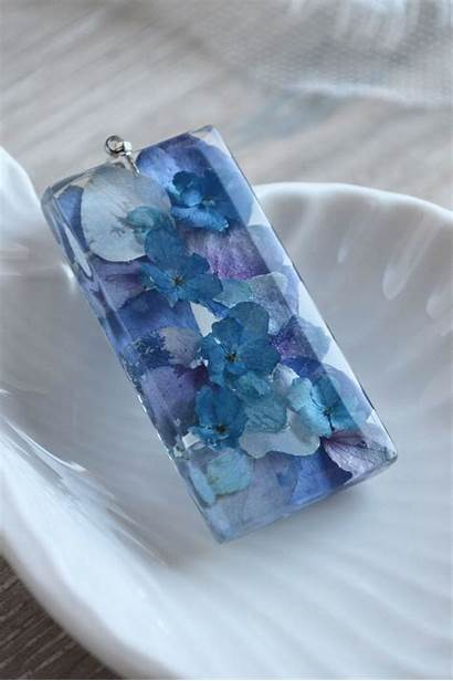 Resin Flowers Handmade Hydrangea Pendant Deko Jewelry